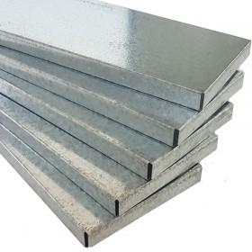 Tablette métallique pour rayonnage métal.